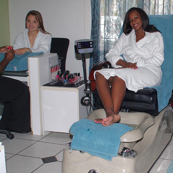 Foot spa at House of Asante Spa Polokwane