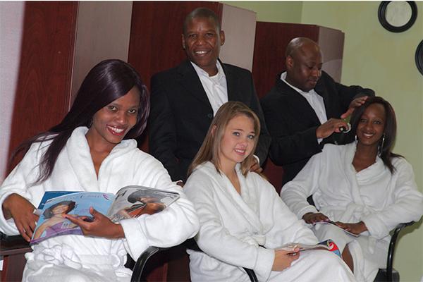 Hair treatment at Asante
