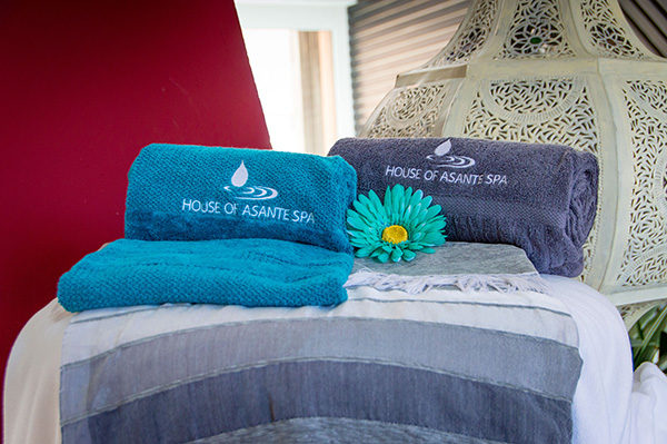Welcome towels at house of Asante Spa Polokwane